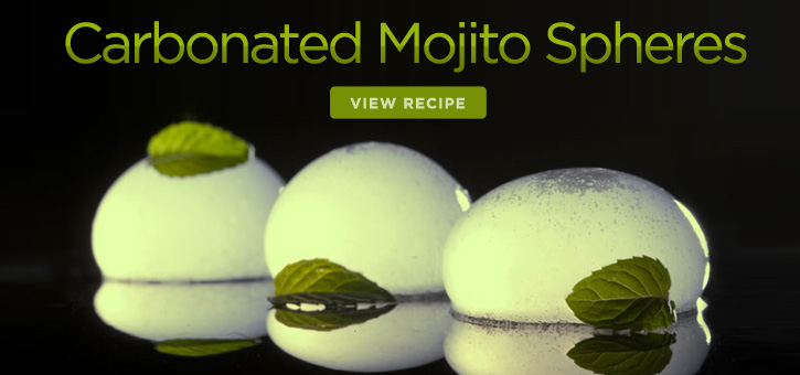 Carbonated Mojito Spheres