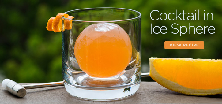 Cocktail in Ice Sphere