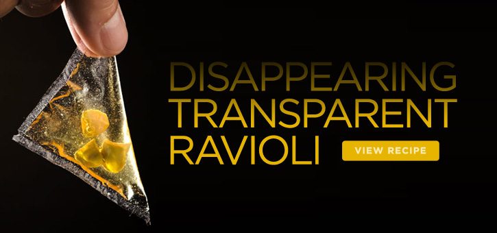 Disappearing Transparent Raviolis