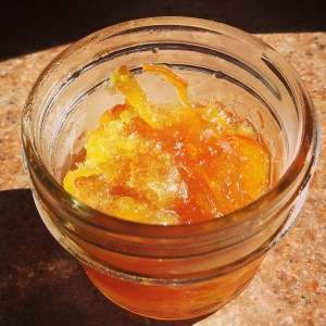 Pectin used to make orange marmelade