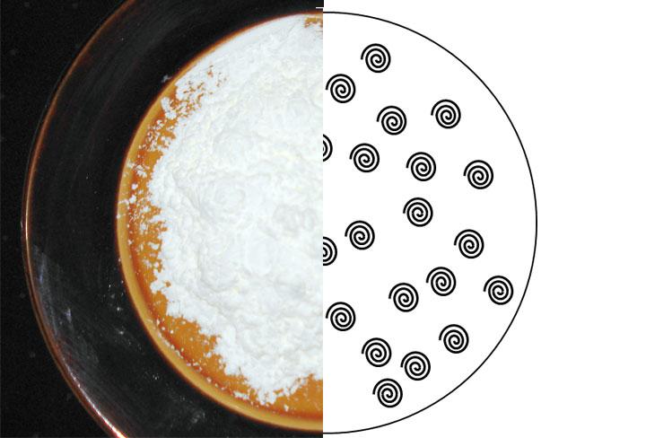 Gel: Powder corn starch