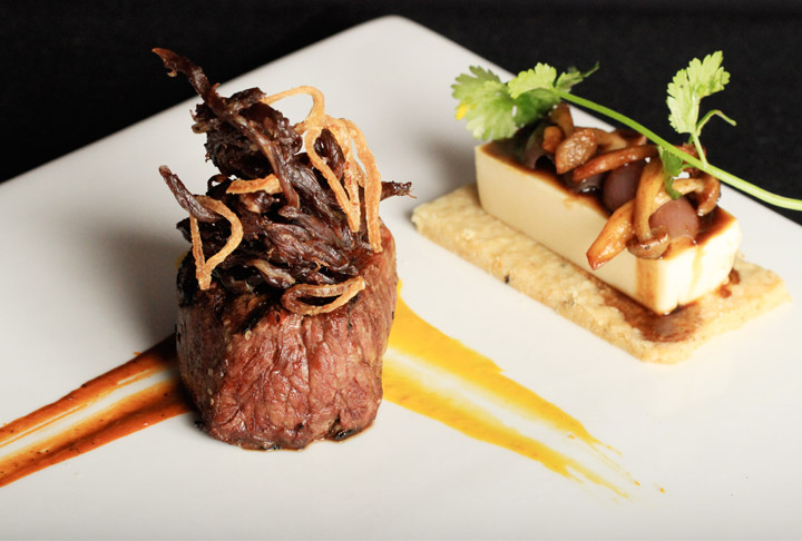 peruvian filet mignon with ultra-tex onion sauce