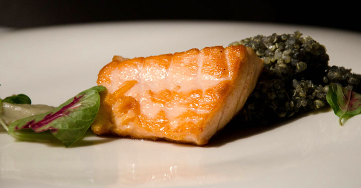 Salmon with Andean Caviar