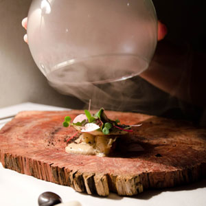 Smoked mushroom and scallop