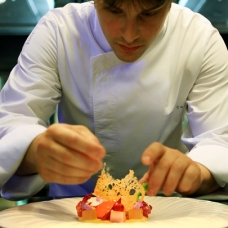 Chef Jordi Cruz at 2 Michelin Star Restaurant ABaC in Barcelona -sqr