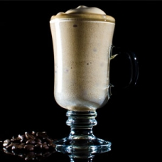 Coffee and milk foam stabilized with soy lecithin and iota carrageenan -sqr