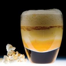 1- Liquid Popcorn with Caramel Froth