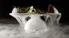 4- Stuffed Morels, Thyme Air, Port Gel,Oak Moss Dry Ice Vapor