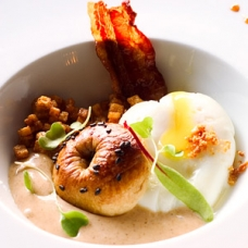 Egg and Croissant Foam sqr