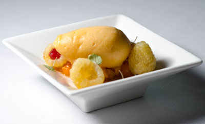 Cloudberry Sorbet with Arctic Berries