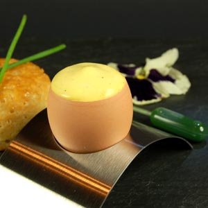 Egg Foam with Chive Infusion