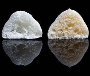 Puff Cross Section Comparison (left without Xanthan)
