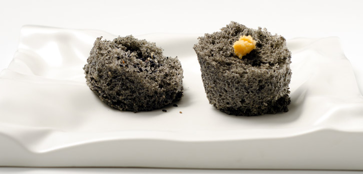 Sesame Microwave Sponge Cake -3