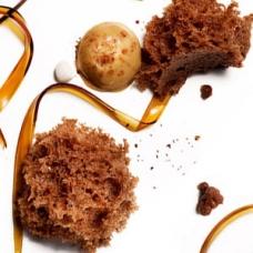 40s Microwave Chocolate Sponge Cake -sqr