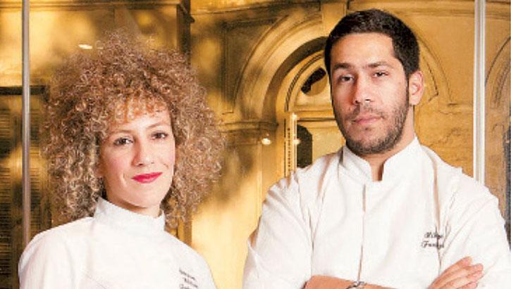 Funky Gourmet Chefs Georgianna and Nikos
