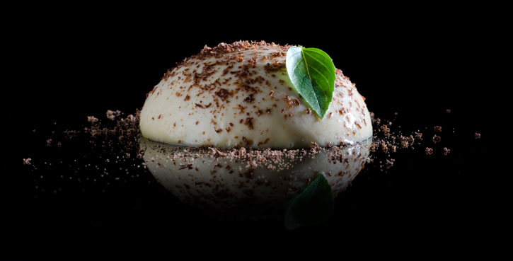 Modernist Caramel Cream with carrageenan -side