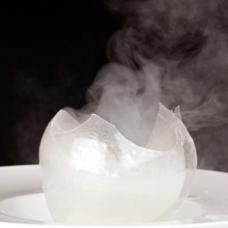 Blown Sugar Isomalt sphere sqr