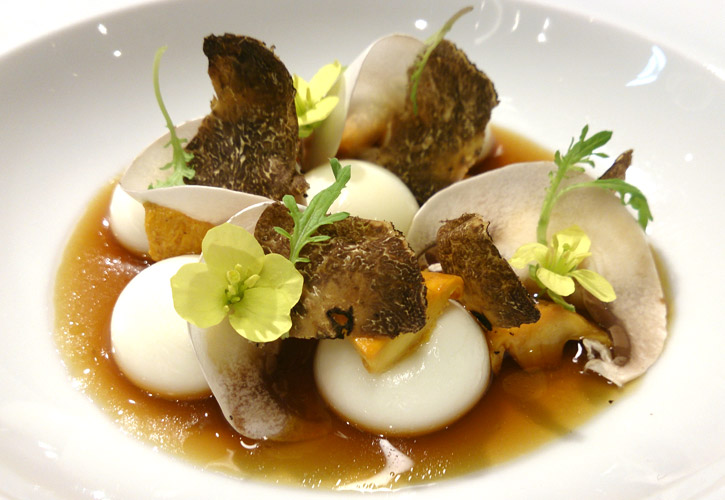 Liquid Parmesan Gnocchi with Mushroom Infusion by Chef Jordi Cruz at ABaC -final