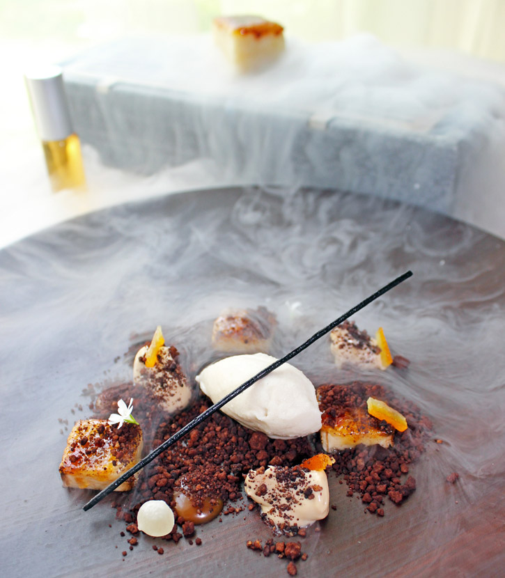 Smoky Soil, Bananas, Coffee, Vanilla and Bourbon by Chef Jordi Cruz at ABaC
