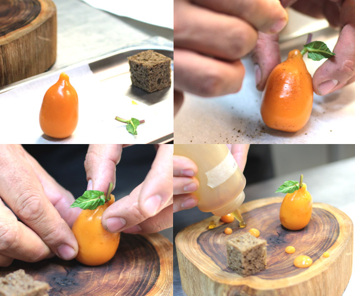 Foie gras medlar - assembly
