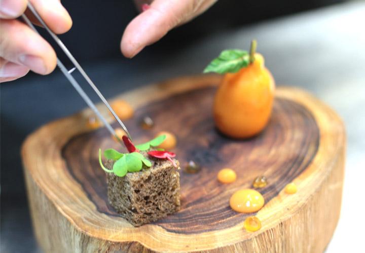 Foie gras medlar - garnish