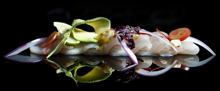 King Fish Tiradito and Passion Fruit