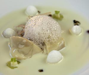 Oyster with Chablis Pebbles