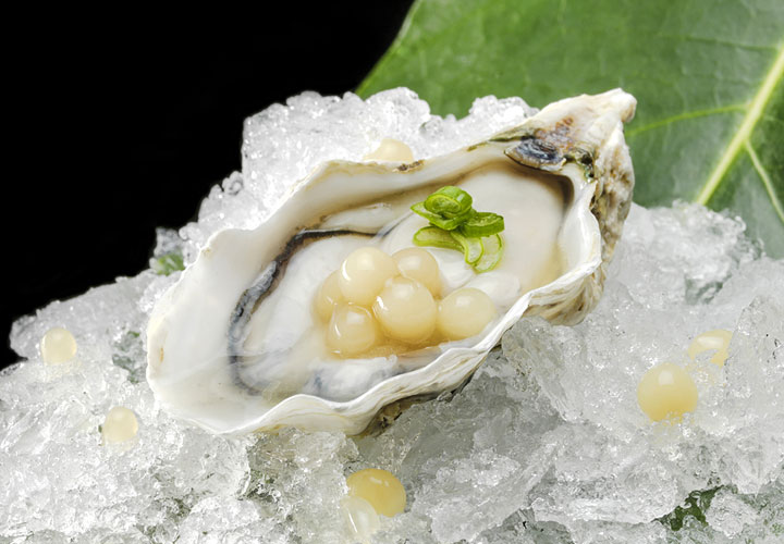 Oyster lemon lime caviar