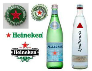 Pellegrino and Heineken Logos