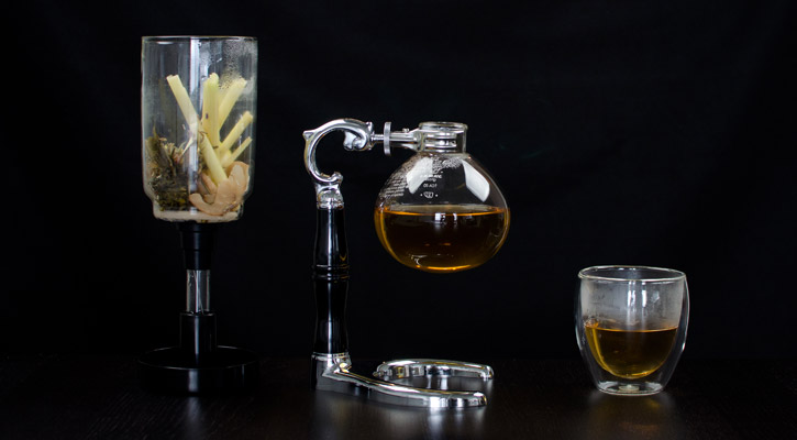 Hot Infusion Siphon Cocktail Lavender Galangal Jasmine