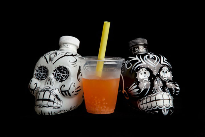 Mexican Bubble Cup - tequila infused with ginger flowers in rotovap