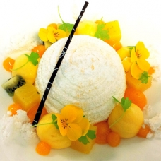Modernist cuisine Pavlova by Chef Angel Betancourt -sqr