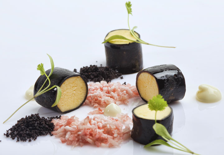 Kappa Carrageenan liquorice gel by Chef Ryan Clift