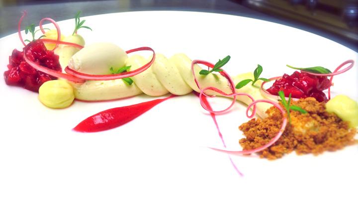 Modernist cheesecake emulsion using gelatin and starch