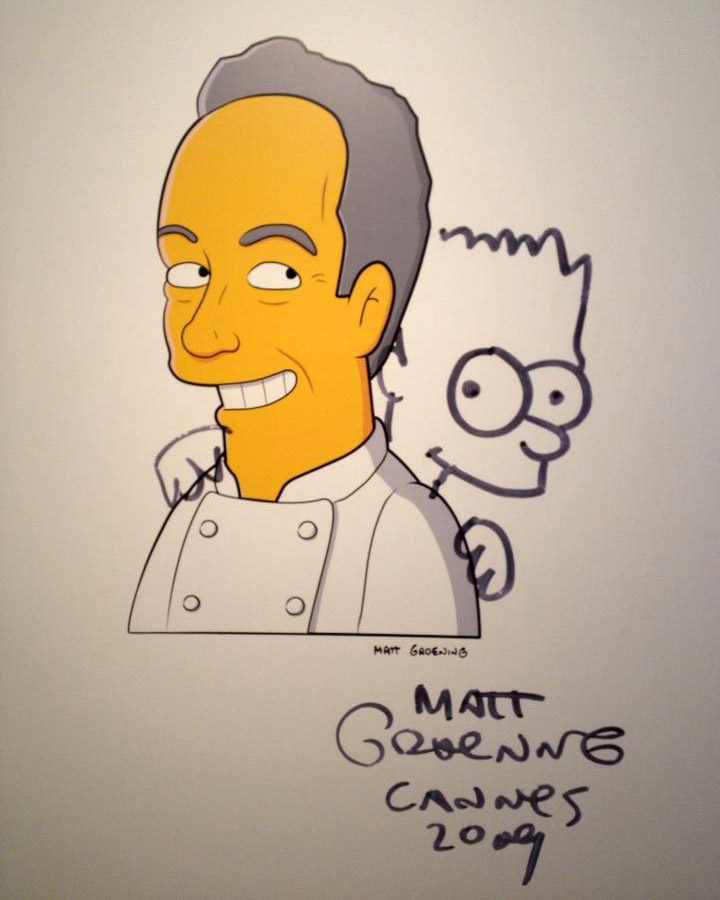 elBulli at Somerset House Ferran Adria as The Simpsons character