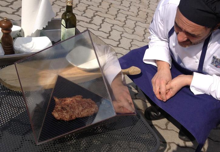 Solar sous-vide Sunshine Steak - italy