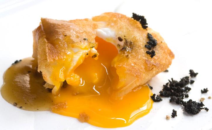 Natural Emulsion in egg truffle open