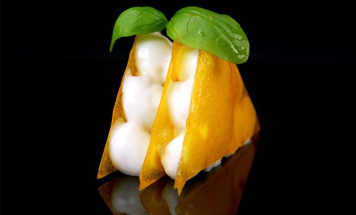 Isomalt mango croquant