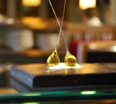 Minibar Restaurant - olive oil bon bon