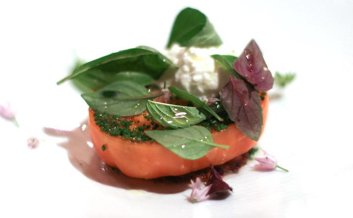Royal Mail Warm tomato and fresh ricotta cheese by Chef Dan Hunter