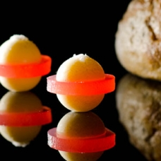 Smoked Butter with Sherry Vinegar Jelly