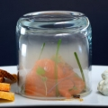 Smoked Raw Salmon with Dill Cream