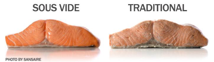 Sous vide salmon comparison