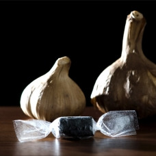 Black Garlic Caramel with Edible Wrapper-sqr