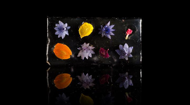Edible Flower Glass