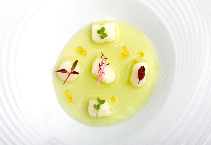 Kuzu gnocchi with pea water