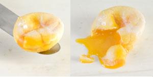 Runny egg yolk