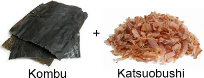 Umami dashi - kombu and katsuobushi